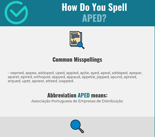 Correct spelling for Aped