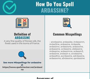 Correct spelling for Ardassine