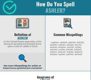 Correct spelling for Ashler