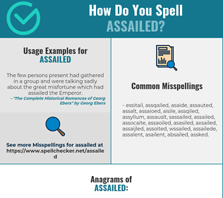 Correct spelling for Assailed