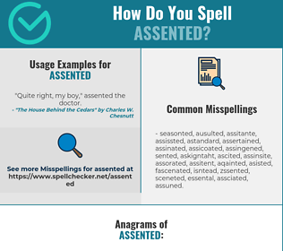Correct spelling for Assented