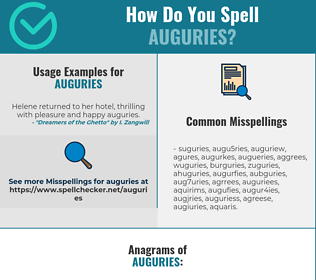 Correct spelling for Auguries