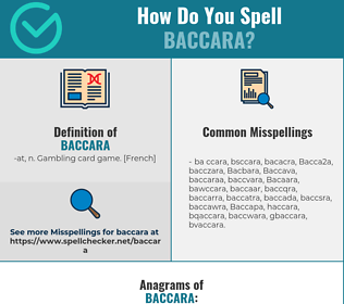 Correct spelling for Baccara