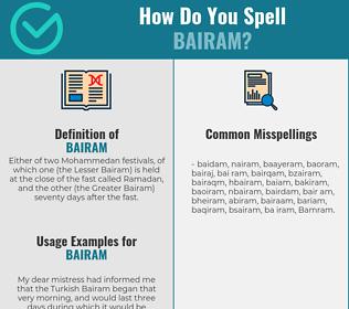 Correct spelling for Bairam