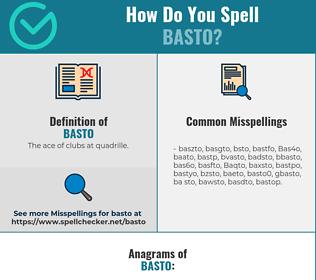 Correct spelling for Basto