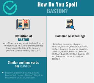 Correct spelling for Baston