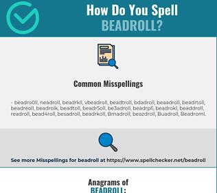 Correct spelling for Beadroll