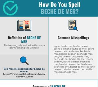 Correct spelling for Beche de mer