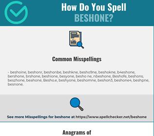 Correct spelling for Beshone