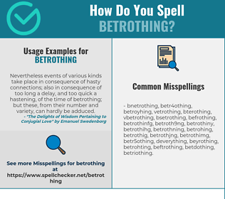 Correct spelling for Betrothing