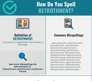 Correct spelling for Betrothment