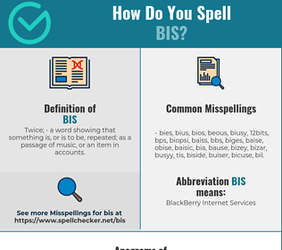 Correct spelling for Bis