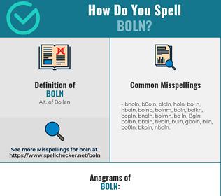 Correct spelling for Boln