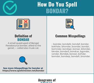 Correct spelling for Bondar