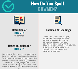 Correct spelling for Bowmen