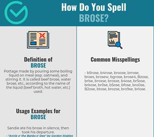 Correct spelling for Brose