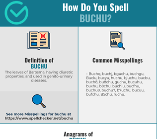 Correct spelling for Buchu