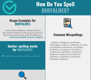 Correct spelling for Buffaloes