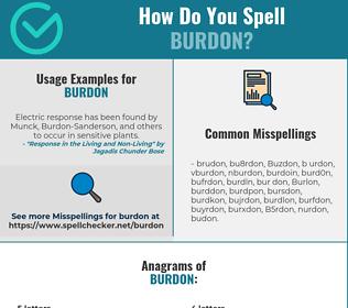 Correct spelling for Burdon
