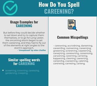 Correct spelling for Careening