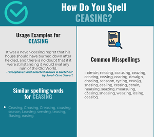Correct spelling for Ceasing