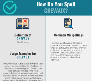 Correct spelling for Chevaux