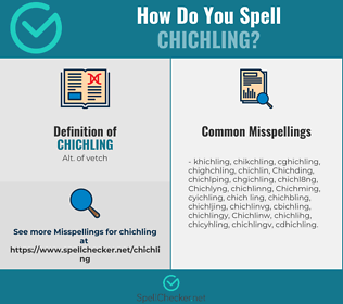 Correct spelling for Chichling