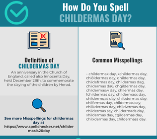 Correct spelling for Childermas day
