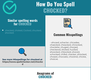 Correct spelling for Chocked