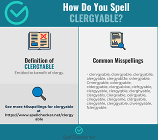 Correct spelling for Clergyable