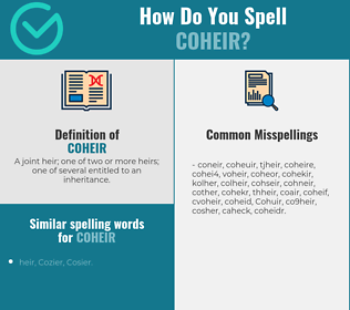 Correct spelling for Coheir