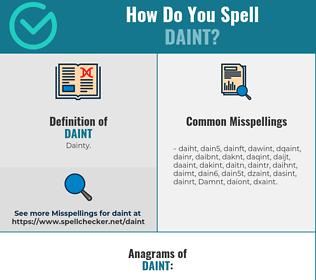 Correct spelling for Daint