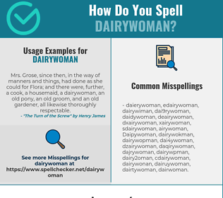 Correct spelling for Dairywoman