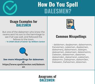 Correct spelling for Dalesmen
