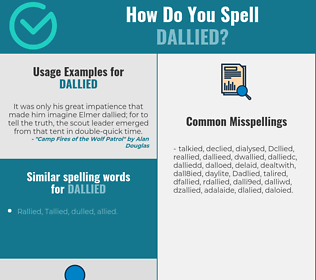 Correct spelling for Dallied