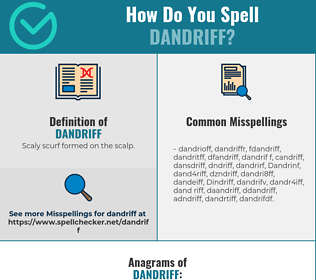 Correct spelling for Dandriff