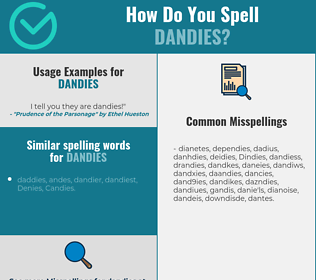 Correct spelling for Dandies
