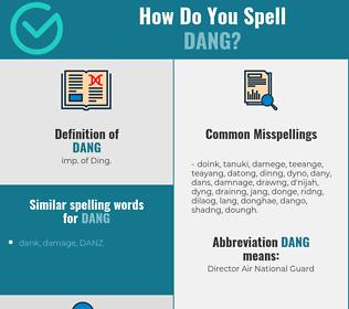 Correct spelling for Dang