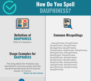 Correct spelling for Dauphiness