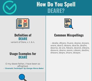 Correct spelling for Deare