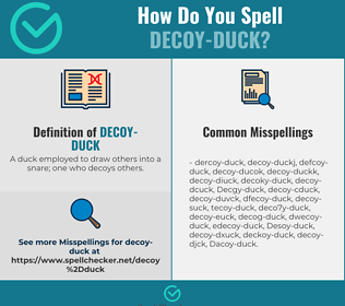 Correct spelling for Decoy-duck