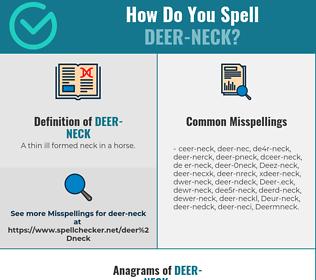 Correct spelling for Deer-neck