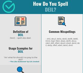 Correct spelling for Deil