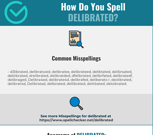 Correct spelling for Delibrated