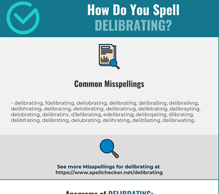 Correct spelling for Delibrating