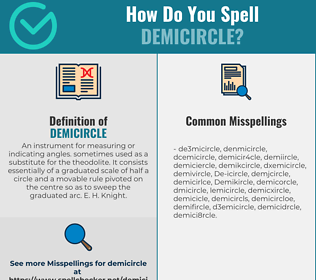 Correct spelling for Demicircle