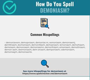 Correct spelling for Demoniasm