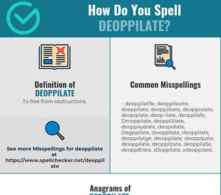 Correct spelling for Deoppilate
