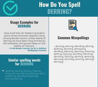 Correct spelling for Derring