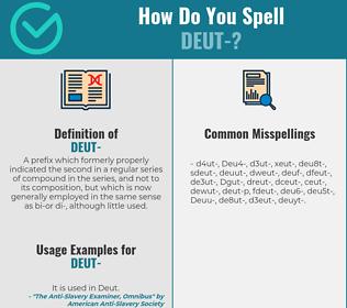Correct spelling for Deut-